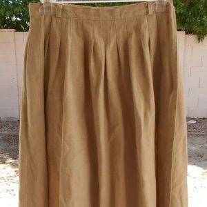 Breckenridge Vintage Size 8 Tan Linen Wrap Skirt